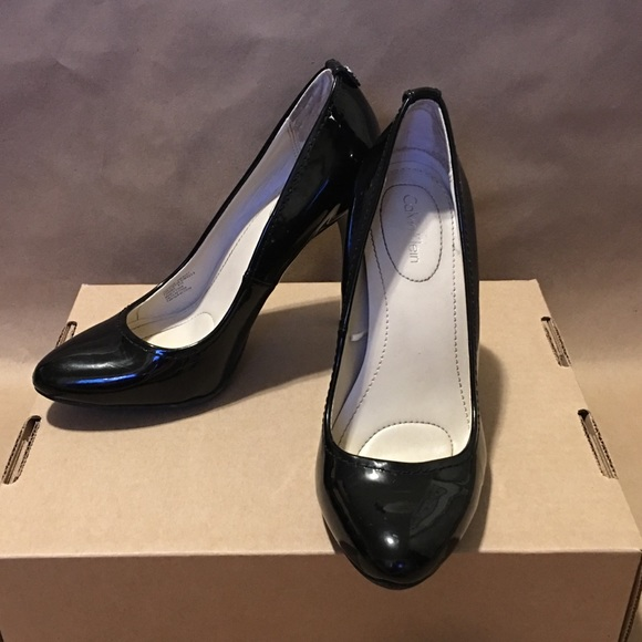 Free Shipping Best Store To Get Clearance Get Authentic Calvin Klein Patent Leather Heels Free Shipping Cheap Classic Sale Online rJhm1RR
